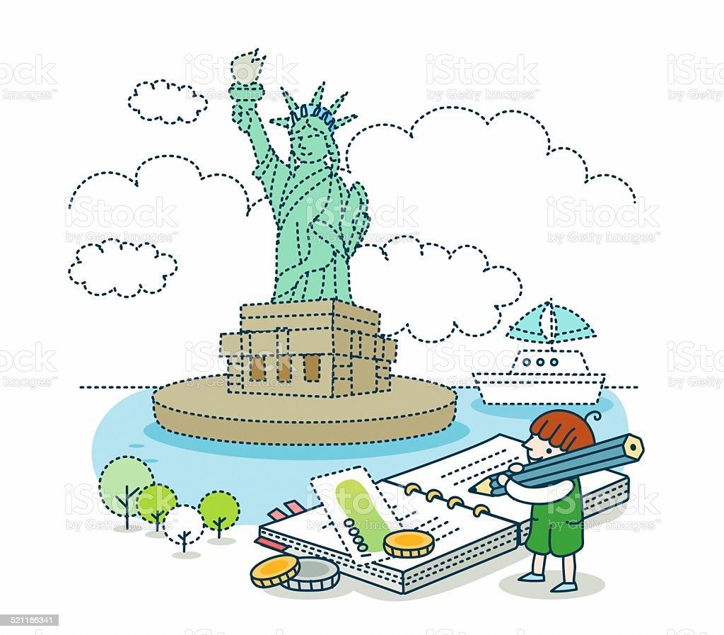 Illustration of holiday vector art illustration