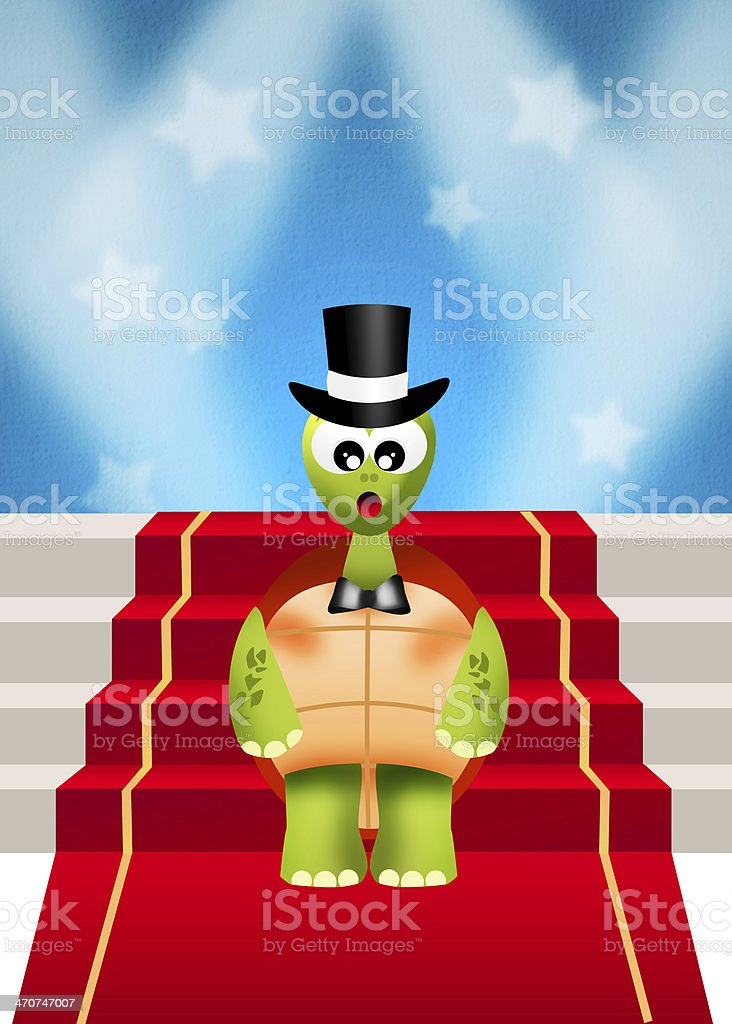 illustration of red carpet royalty-free stock vector art