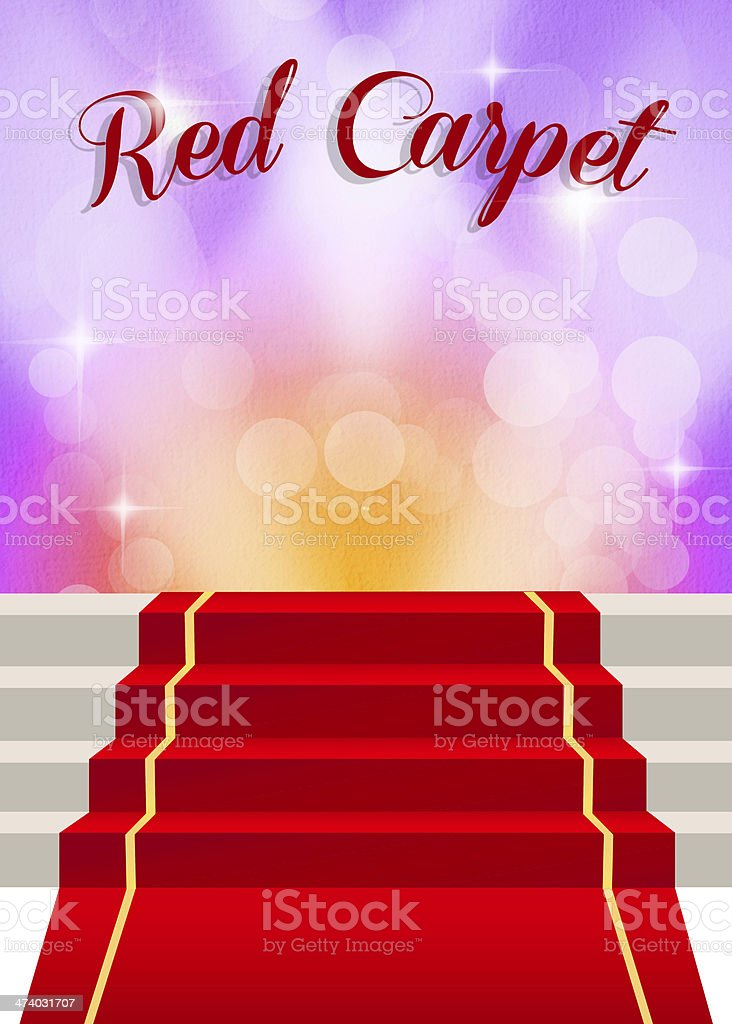 Illustration of red carpet royalty-free stock vector art