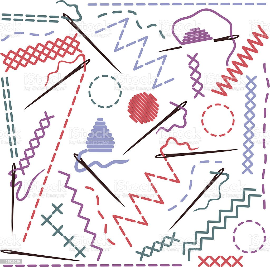 Illustration of sewing equipment vector art illustration
