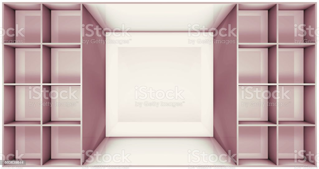 illustration of shelf vector art illustration