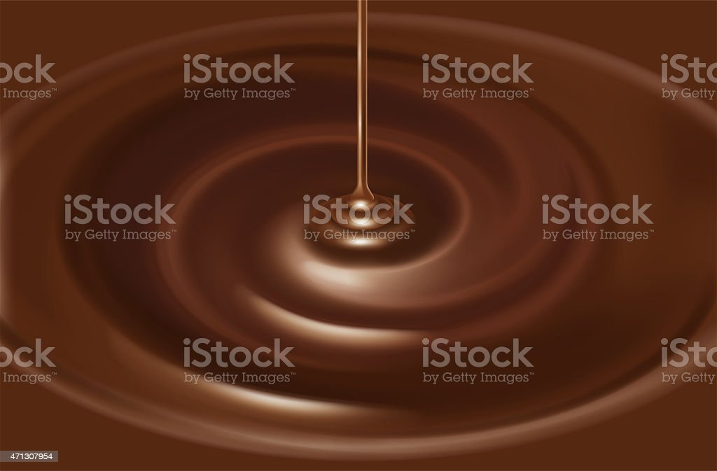 Illustration of the chocolate source. vector art illustration