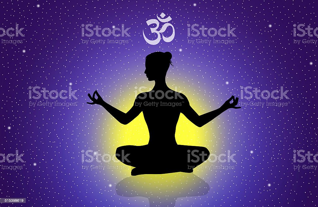 Illustration of yoga vector art illustration