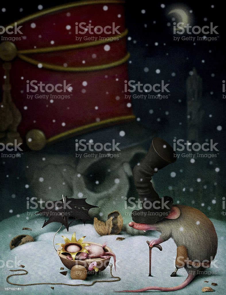 Illustration to fairy tale The Nutcracker vector art illustration