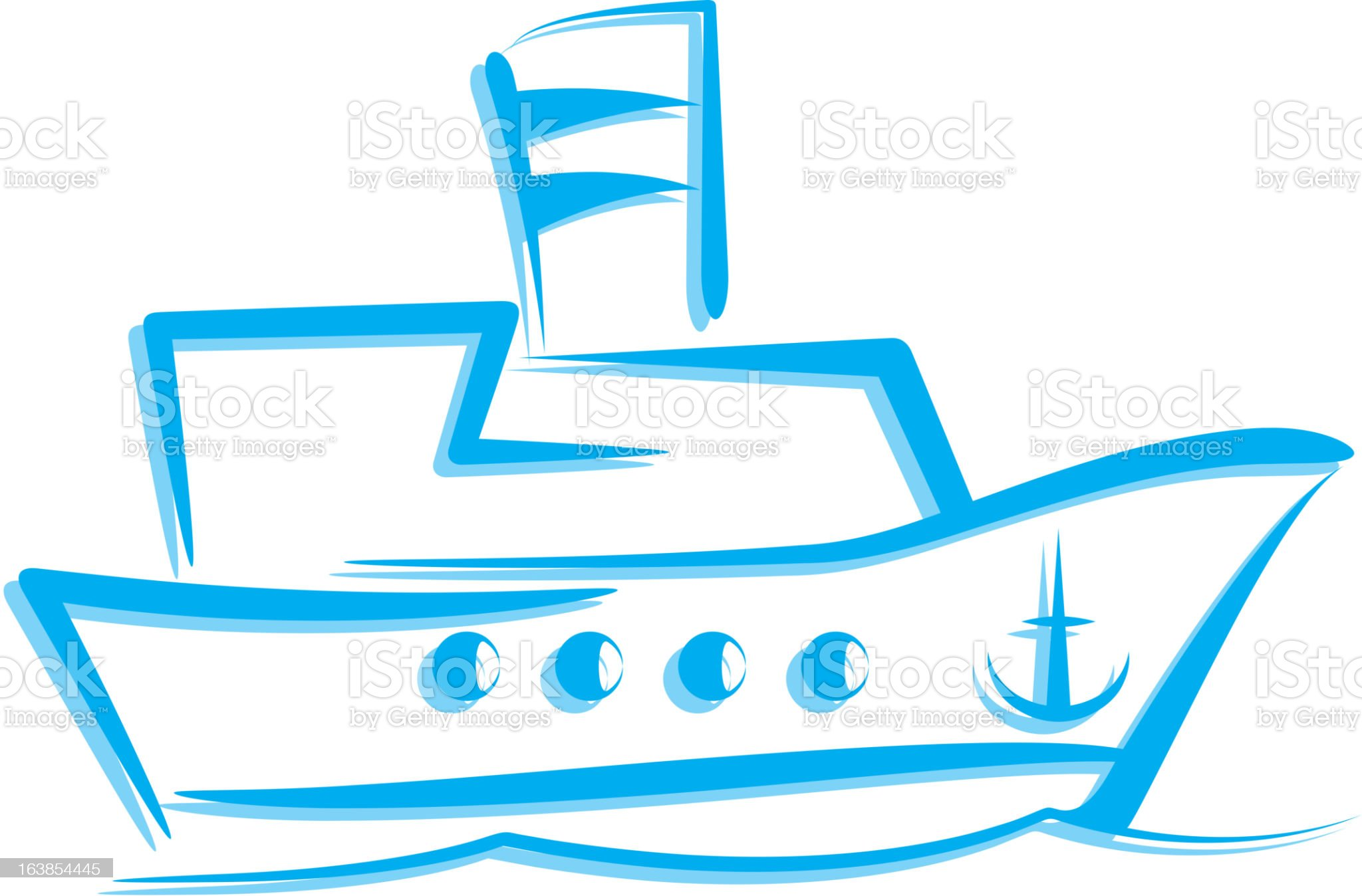 illustration with a ship royalty-free stock vector art