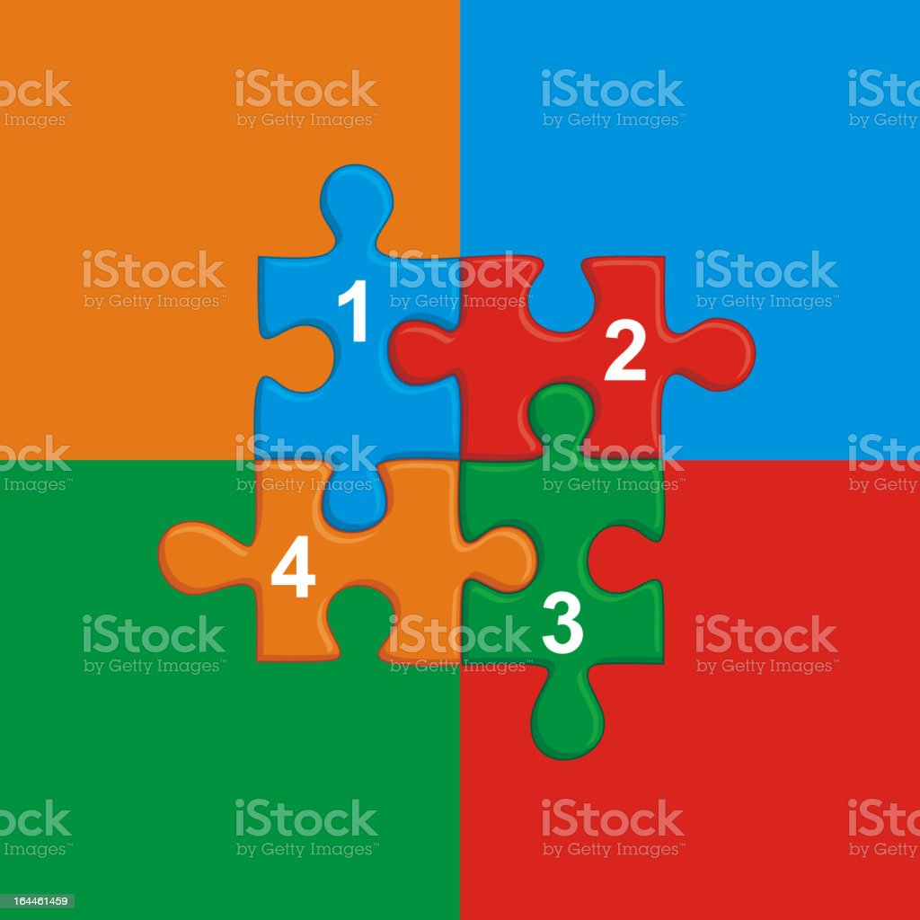 Illustration with puzzle and place for your text royalty-free stock vector art