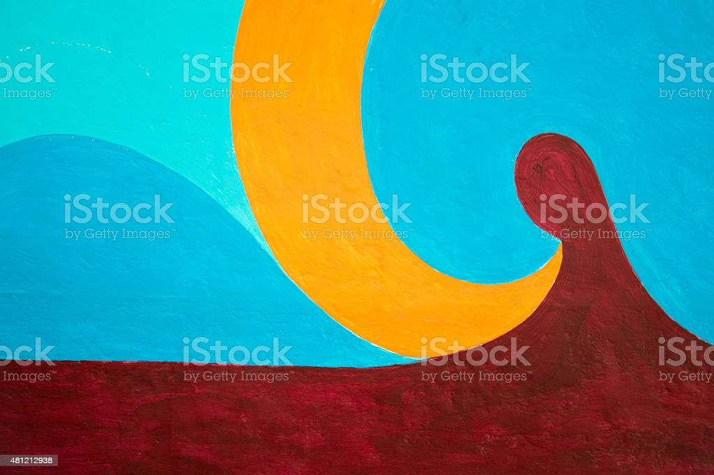 Illustrator colorful texture with waves and circle vector art illustration