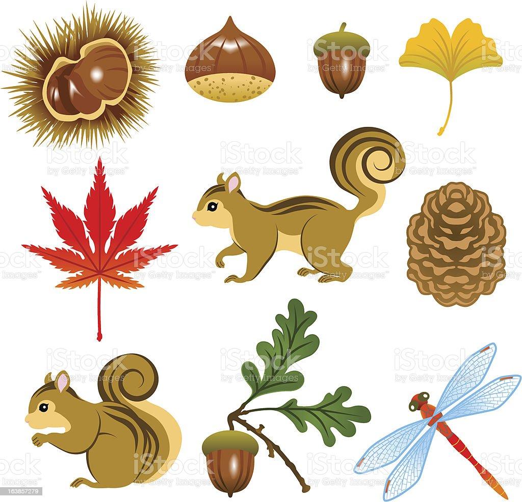 Images of Autumn vector art illustration