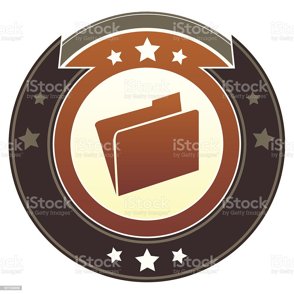Imperial file folder icon vector art illustration