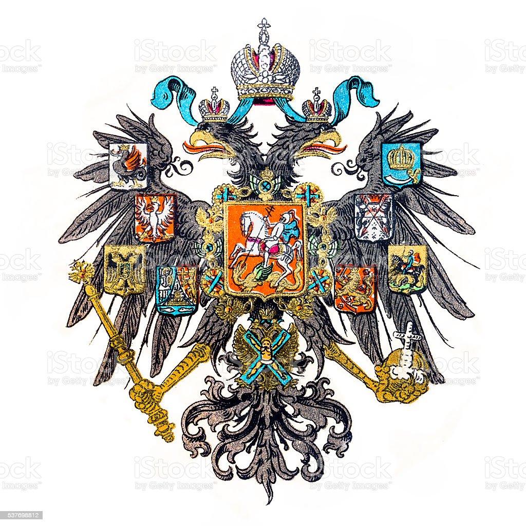 Imperial Russia emblem vector art illustration