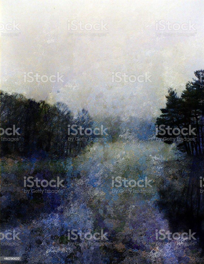 Impresion Landscape vector art illustration