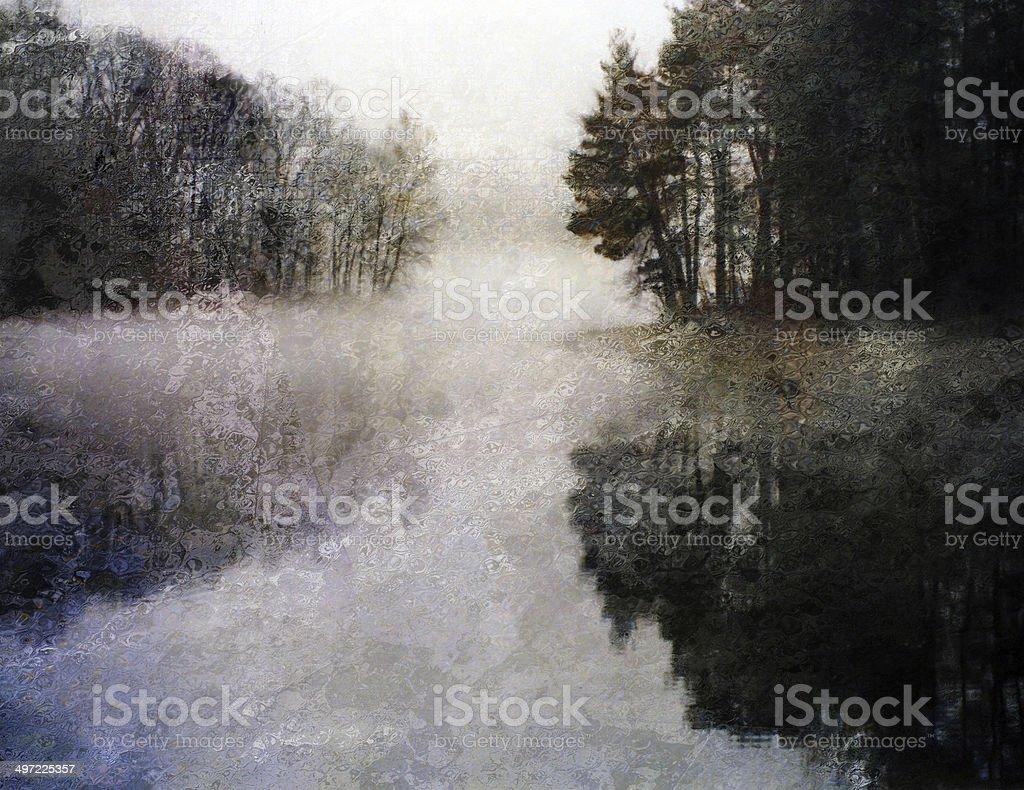 Impressioist Lake royalty-free stock vector art