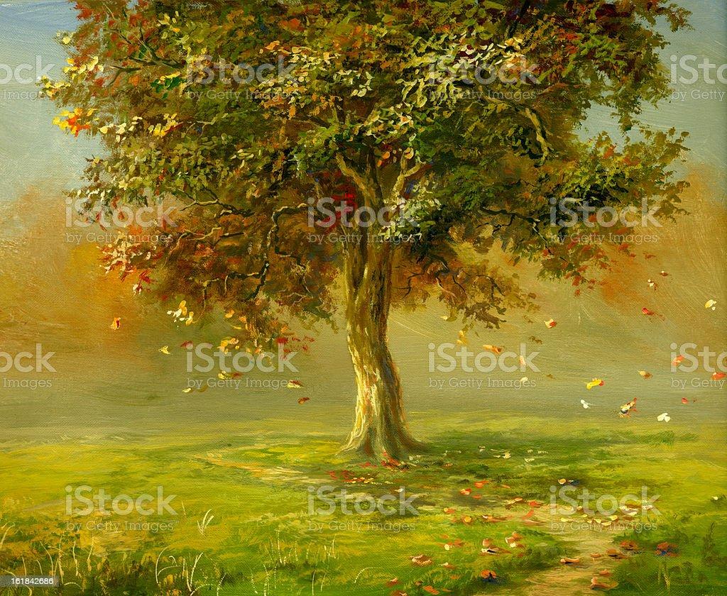 In autumn park royalty-free stock vector art