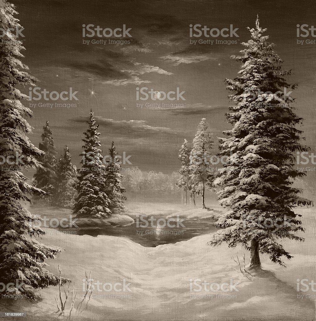In lunar light royalty-free stock vector art