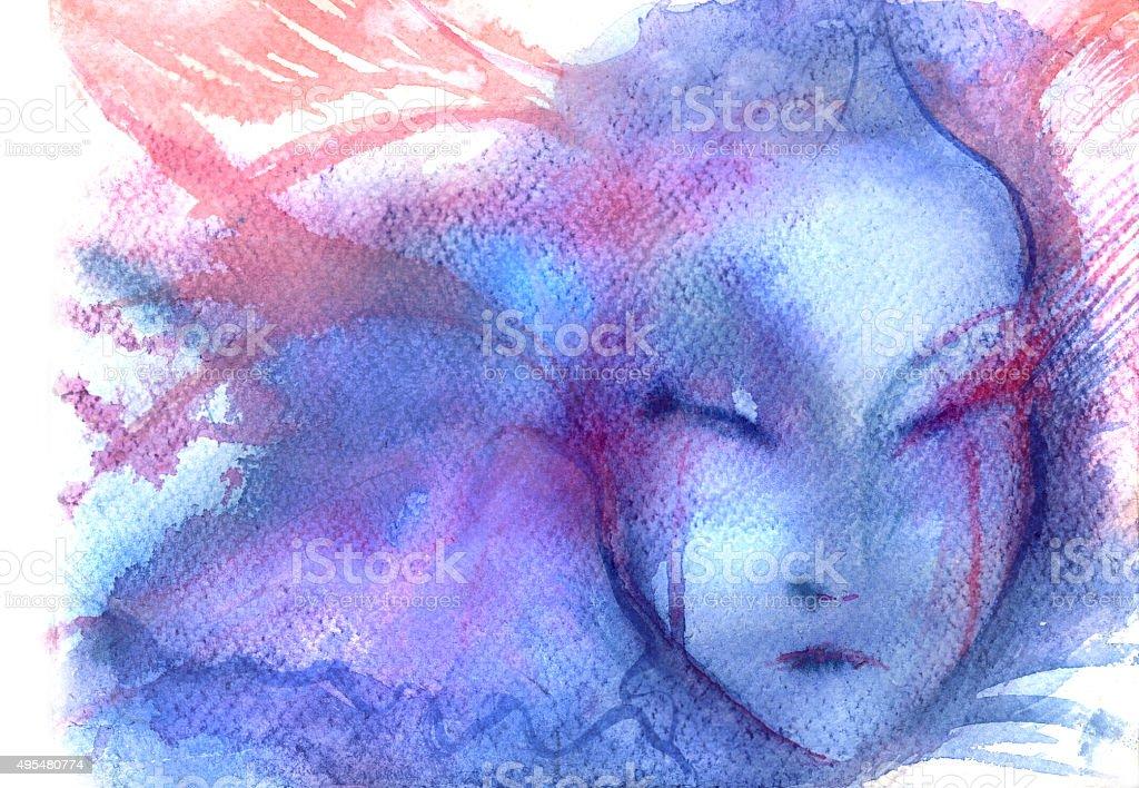 in pain vector art illustration