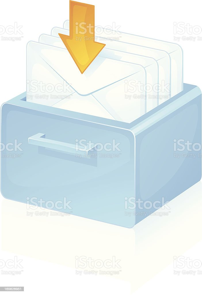 Inbox royalty-free stock vector art