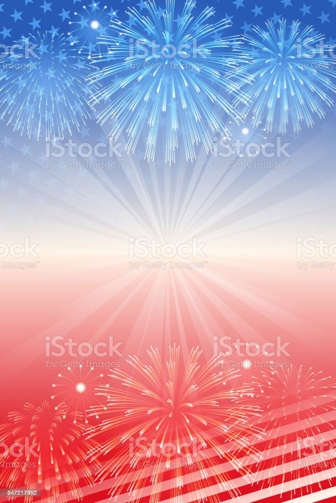 Independence Day background vector art illustration