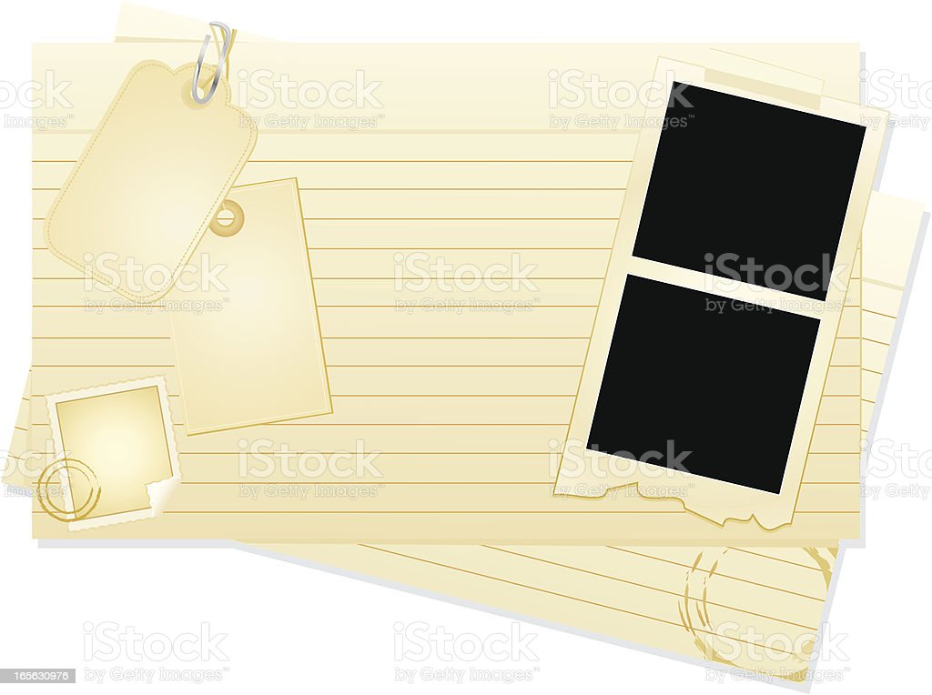 Index Card Set royalty-free stock vector art