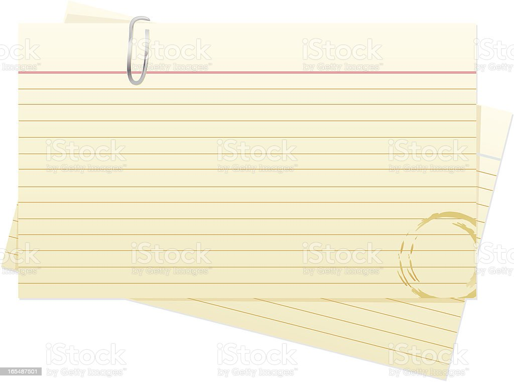 Index Cards vector art illustration