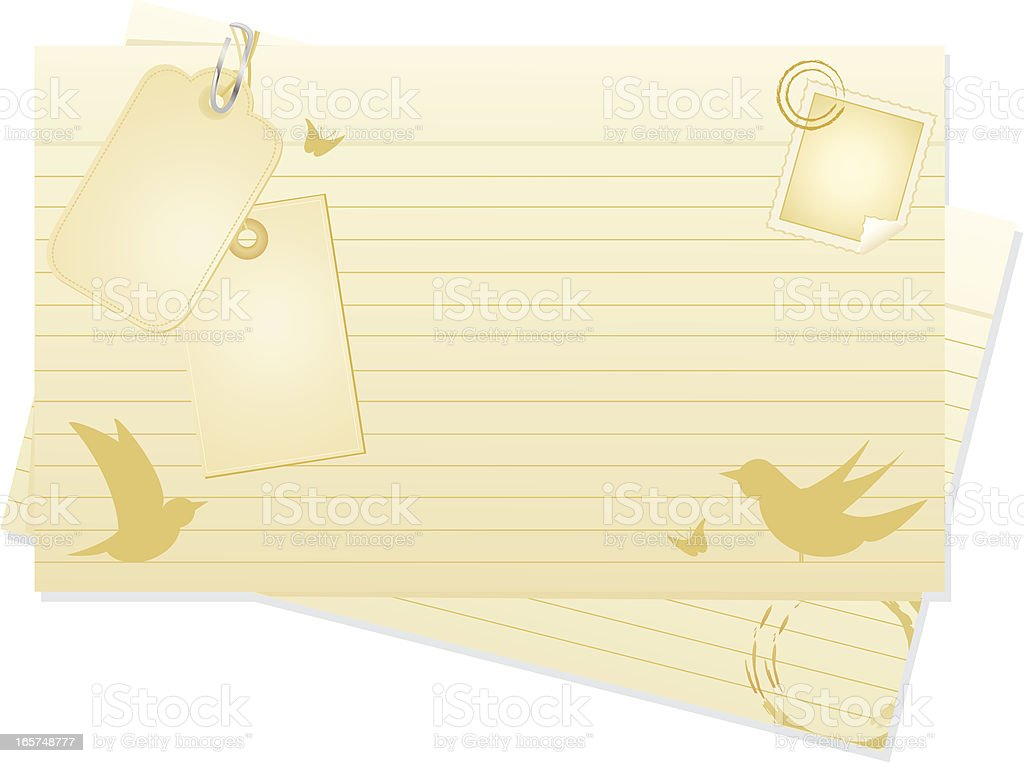 Index Cards royalty-free stock vector art