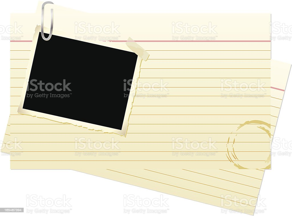 Index Cards with Photograph royalty-free stock vector art