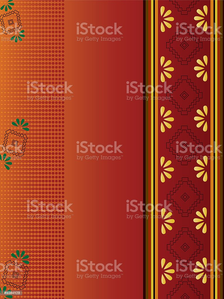 Indian floral motif background royalty-free stock vector art