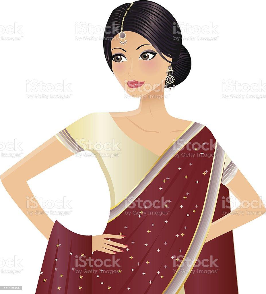 Mujer India illustracion libre de derechos libre de derechos