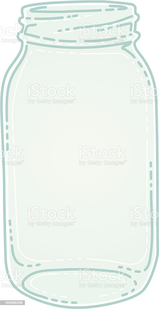indie jar vector art illustration