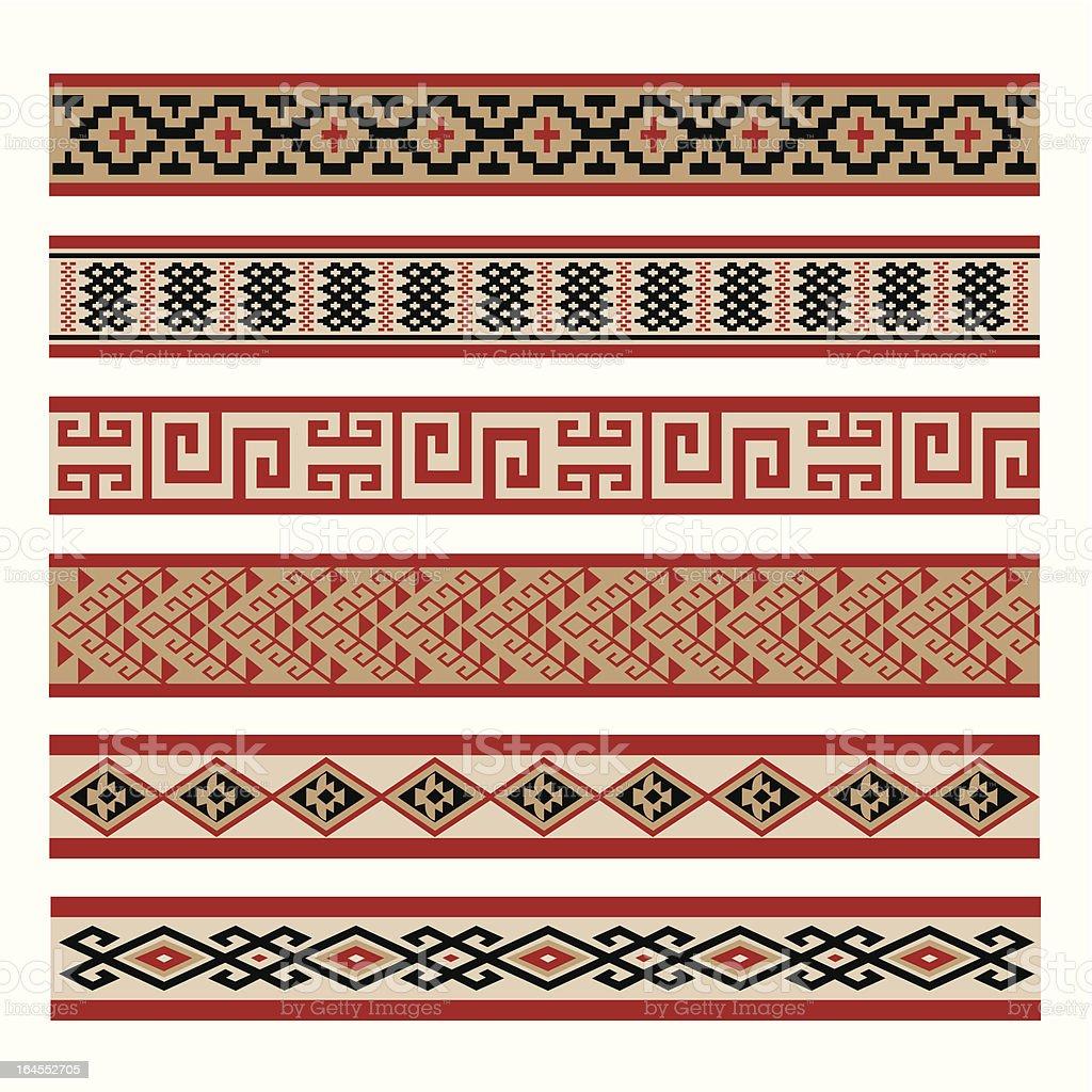 Indigenous Culture Patterns vector art illustration