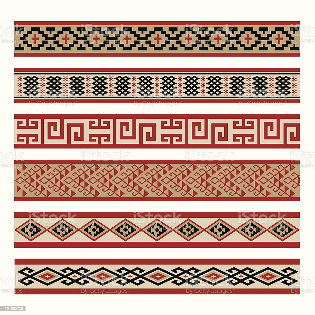 Indigenous Culture Patterns vector art illustration