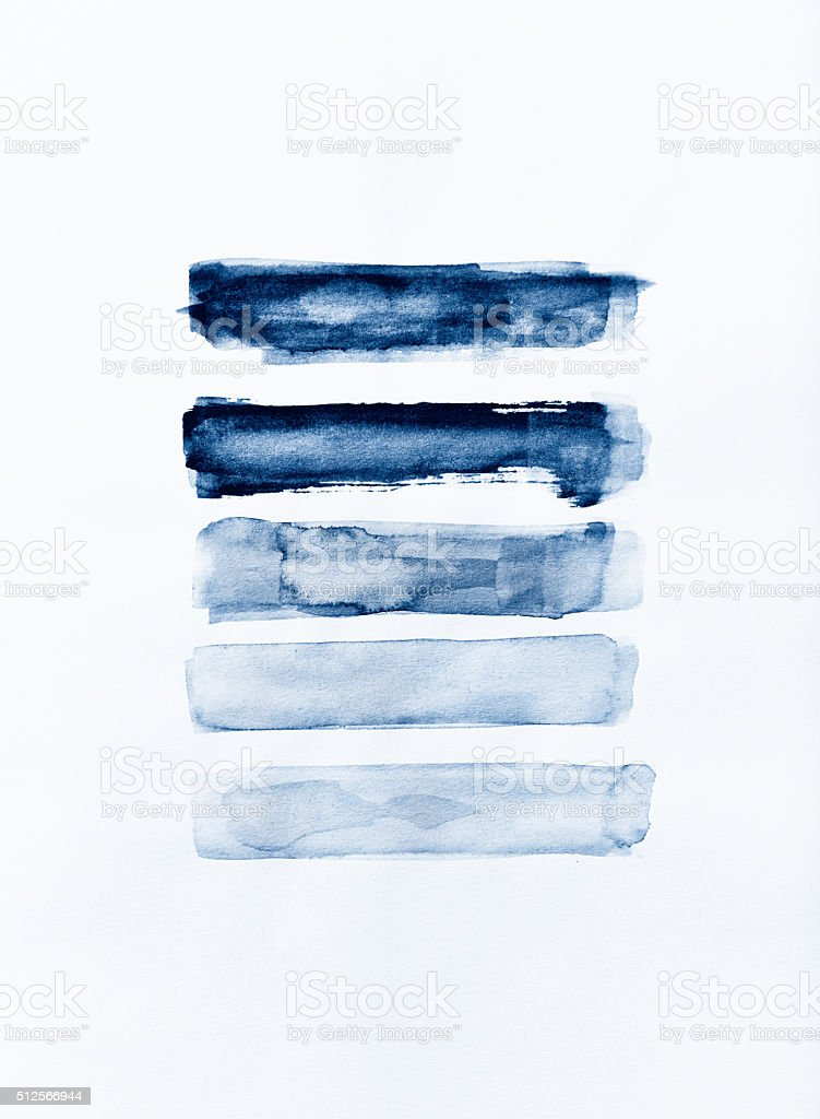 Indigo watercolor strokes vector art illustration