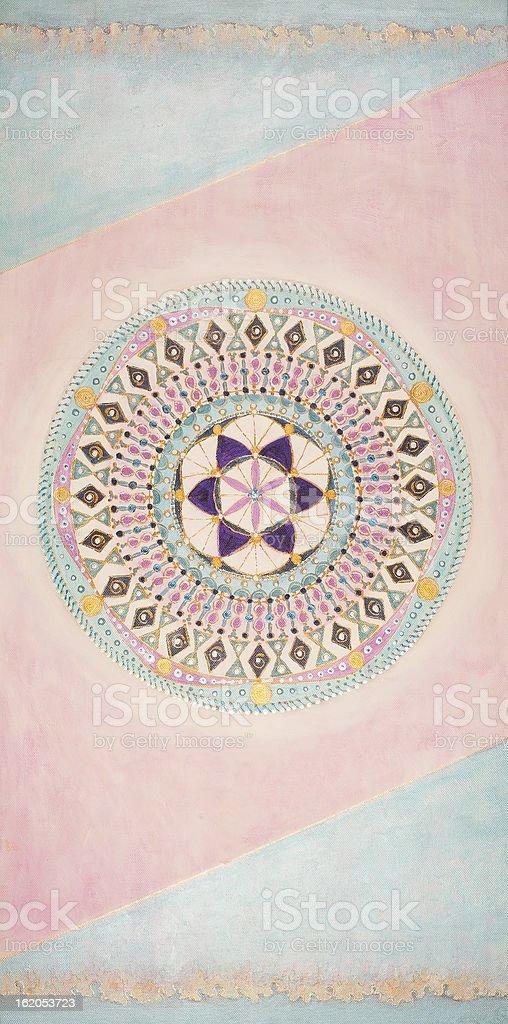 Indigo-Pattern Mandala royalty-free stock vector art