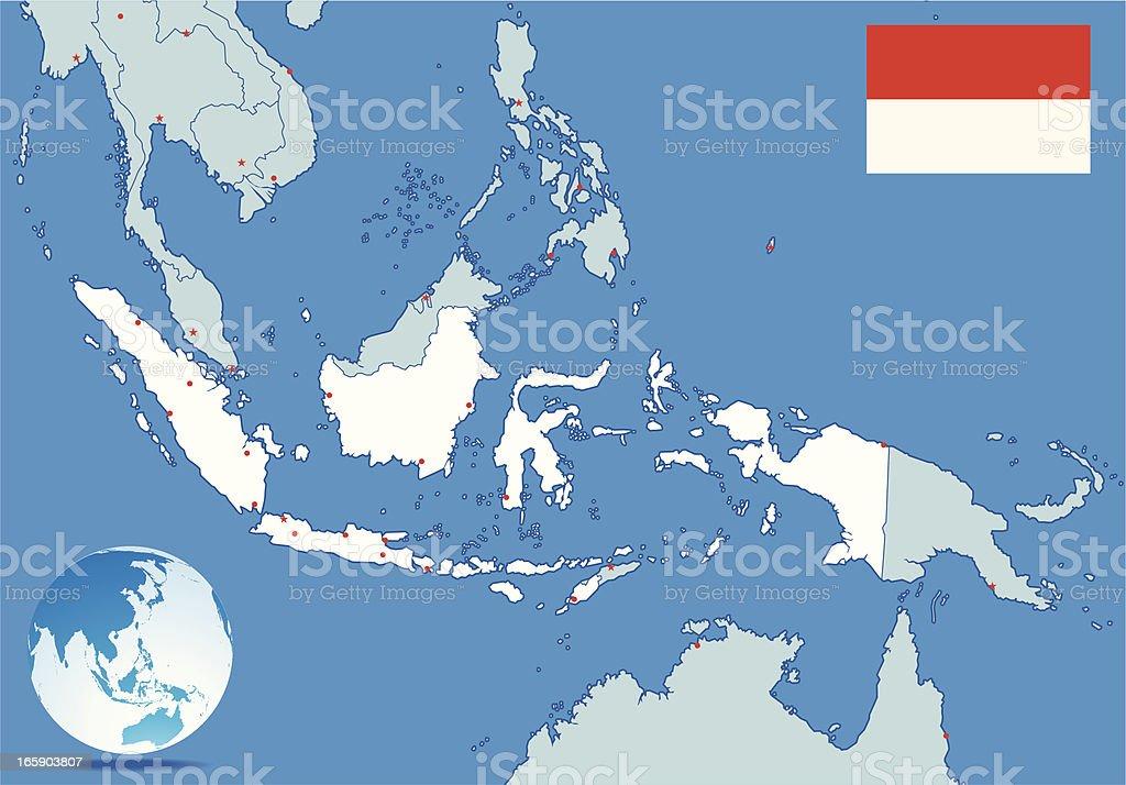 Indonesia Map vector art illustration