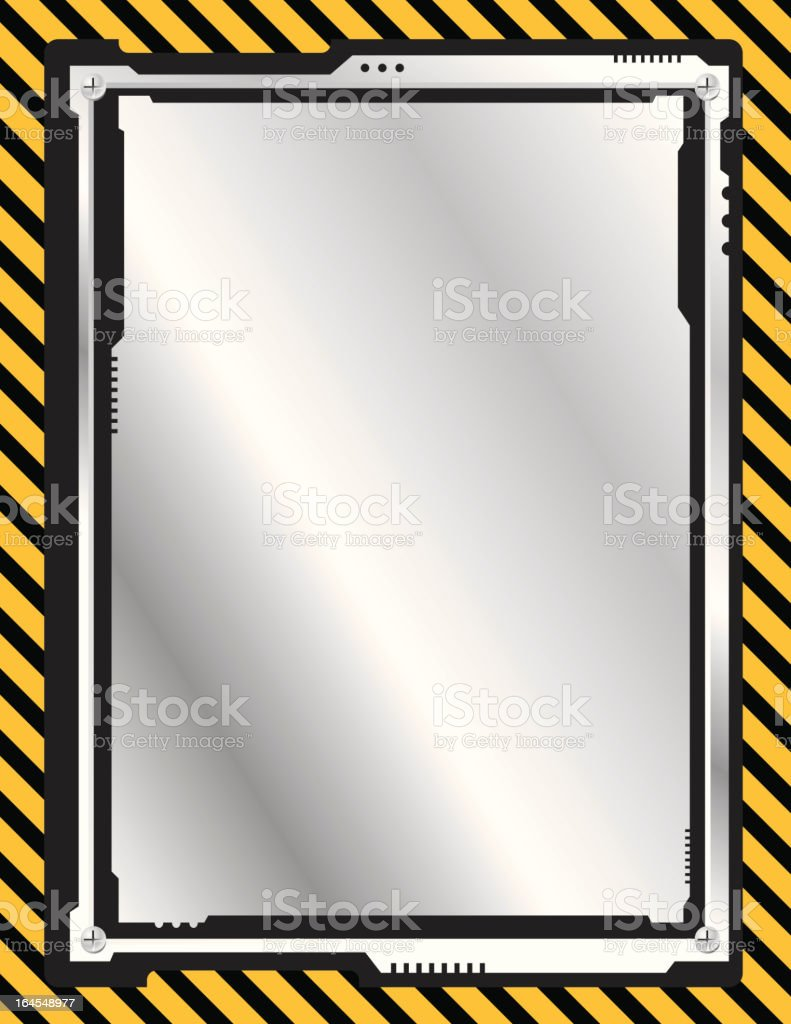 Industrial Frame Background royalty-free stock vector art