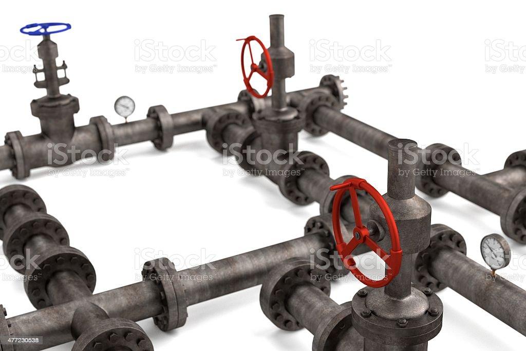 industrial pipes vector art illustration