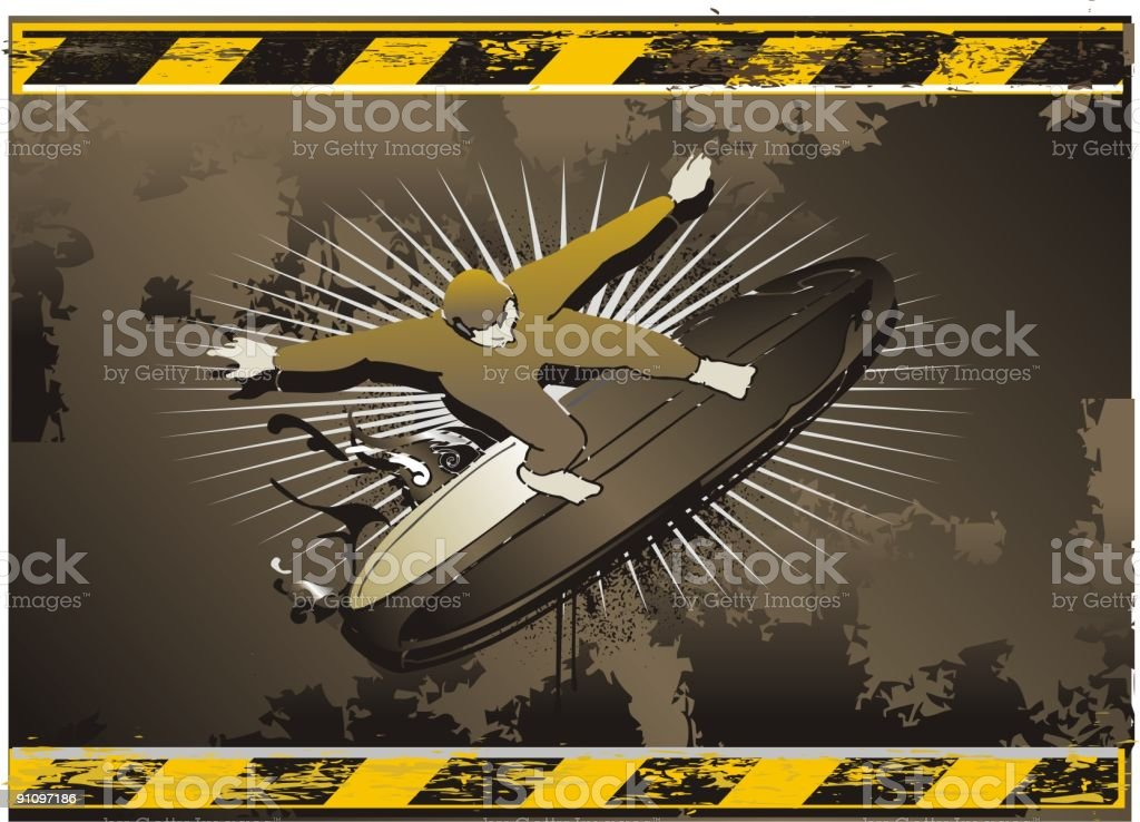 industrial rusty surf symbol royalty-free stock vector art