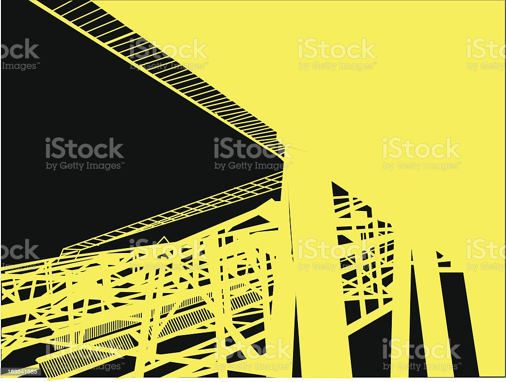 Industrial structure royalty-free stock vector art