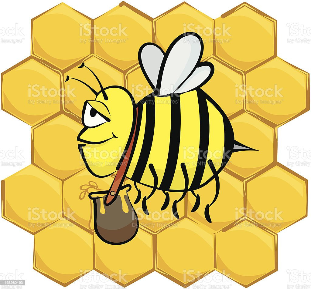 industrious  bee royalty-free stock vector art
