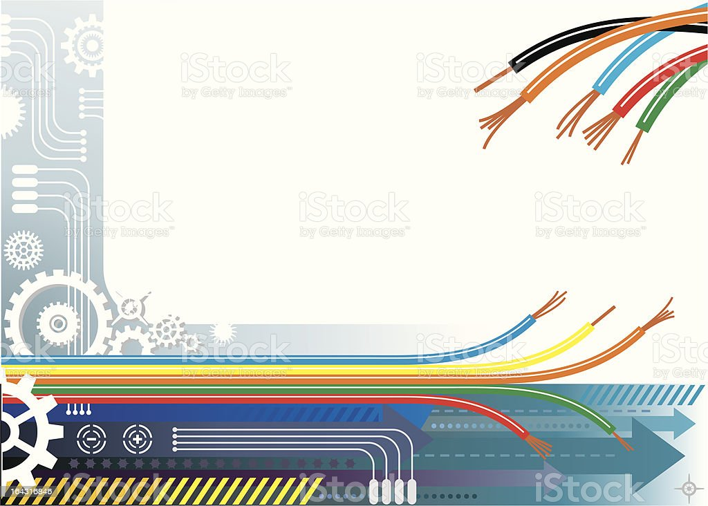 Industry automation background vector art illustration