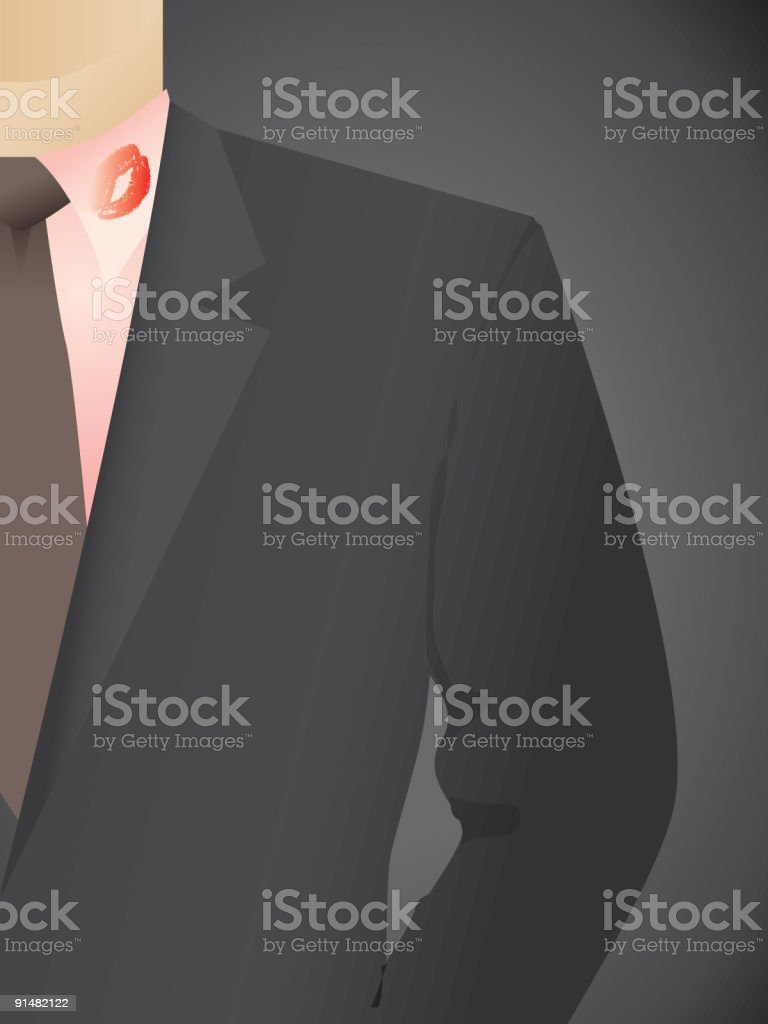 Infidelity business vector art illustration