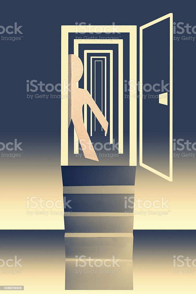Infinite opportunities business concept vector art illustration