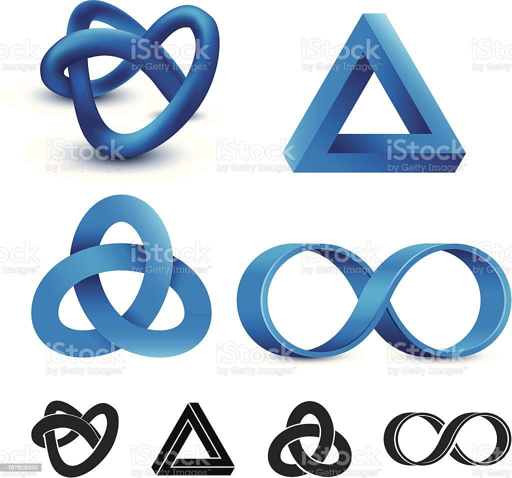 Infinity symbols vector art illustration