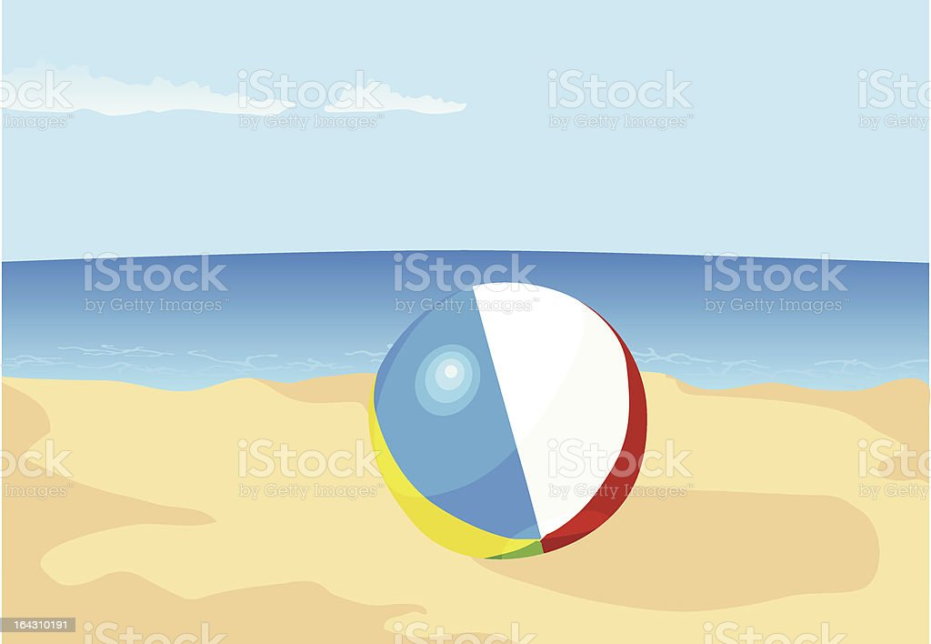 Inflatable ball royalty-free stock vector art