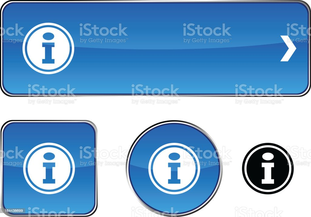 Info  button set. royalty-free stock vector art