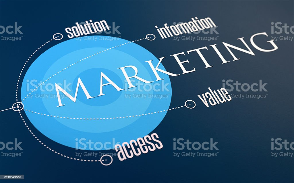 Infográfico: Marketing SIVA azul vetor e ilustração royalty-free royalty-free
