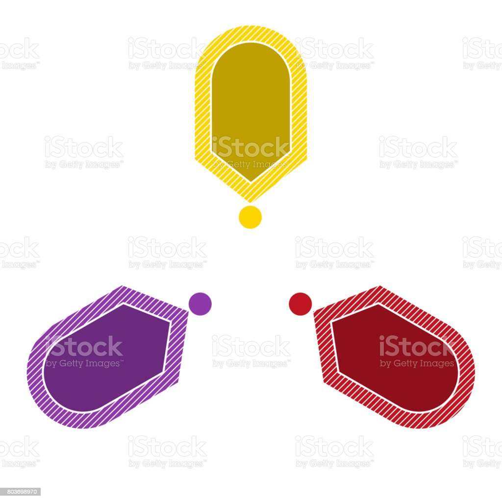 Infographic points arrows arranged in circle with text options vector art illustration