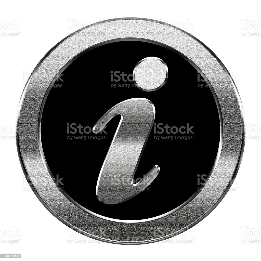 information icon silver, isolated on white background royalty-free stock vector art