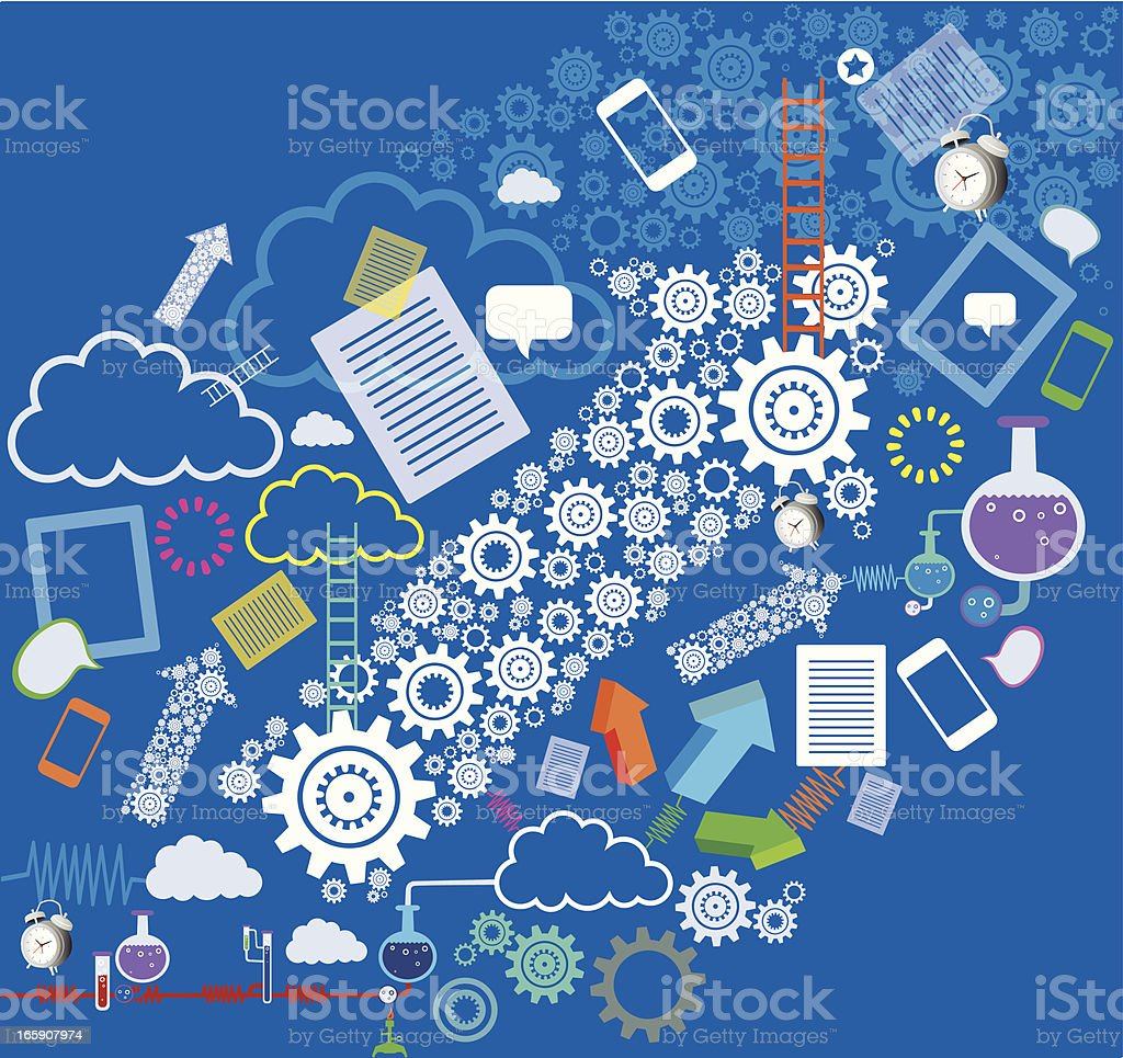 Information sharing and social networks royalty-free stock vector art