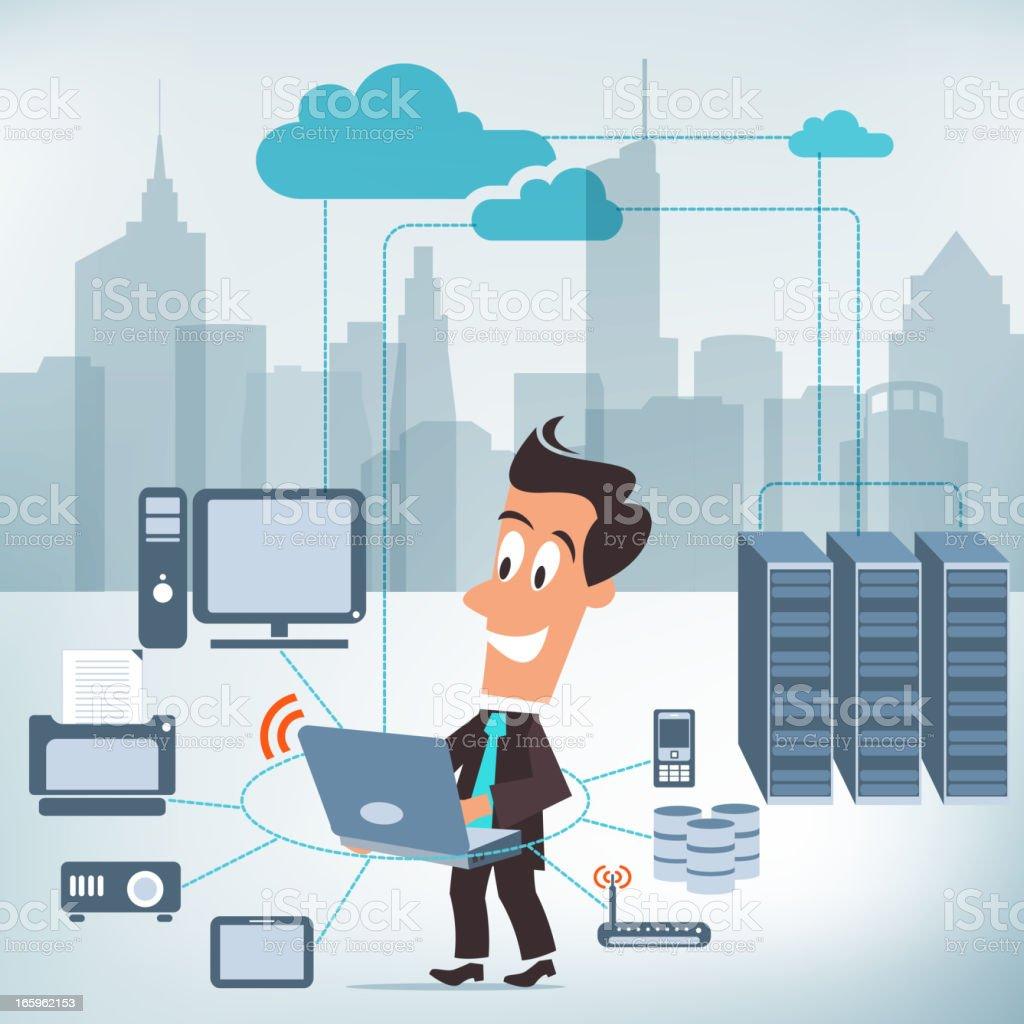 Information Technology Service vector art illustration