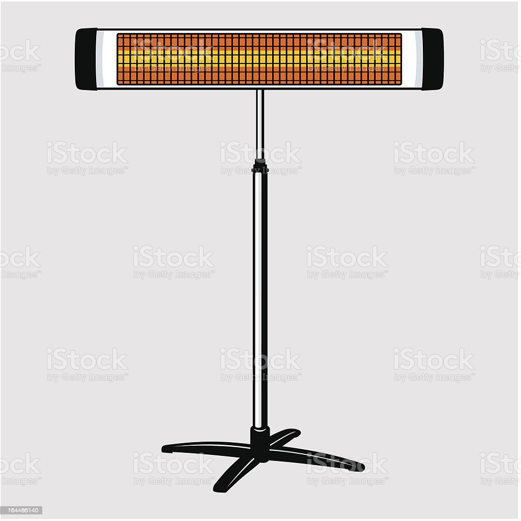 Infrared heater royalty-free stock vector art
